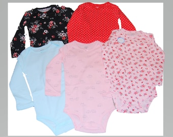 5 Pack of G Tube Bodysuits, Made to Order 24 Month