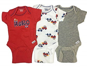 3 Pack of G Tube Bodysuits, Adapted to Order 3-9 Month