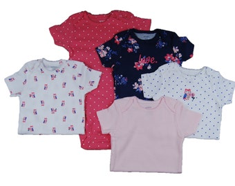 5 Pack of G Tube Bodysuits, Adapted to Order 12 Month