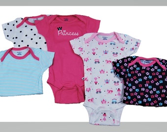 5 Pack of G Tube Bodysuits, Made to Order 0-3 Month