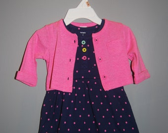 6 Month Double Layer G Tube Bodysuit/Sundress with Sweater, Adapted to Order