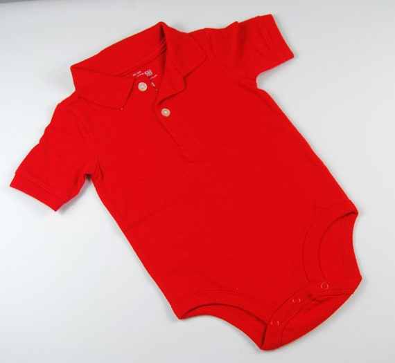 9-12 Month G Tube Bodysuit with Collar, Adapted to Order