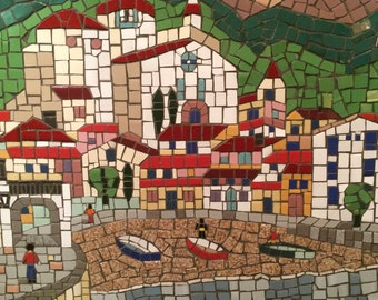 Cataluna (Lloret Del Mar) Spain original mosaic custom wall art decor