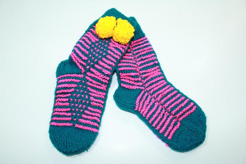 Women/'s Hand knit socks women Wool socks Ladies Colorful socks Handmade Socks Warm Casual knitted socks Natural Colorful socks