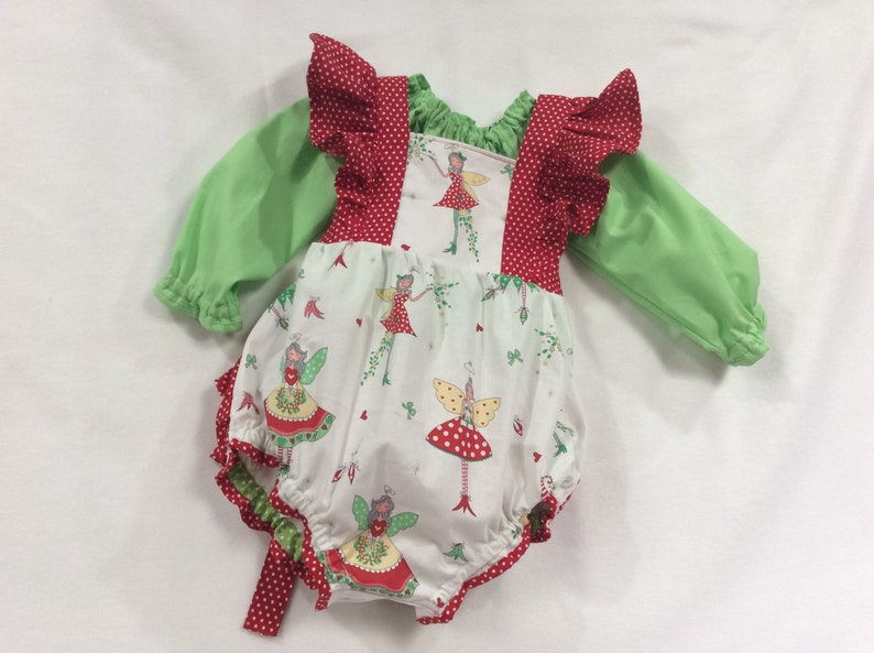 3eb8c1426f2a Christmas Fairies Baby Romper Bubble Outfit Christmas in July