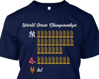 4866fb45a63714 Yankees World Championship History T-Shirt - Yankees Shirt - Yankees Tshirt