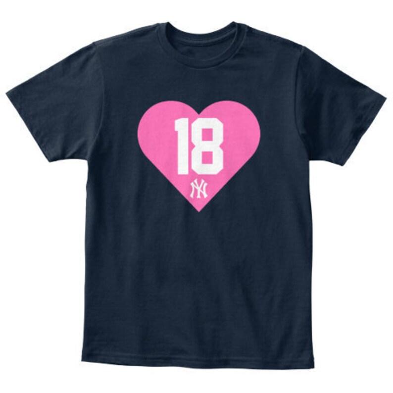 pretty nice 753e7 769a7 Yankees Heart Jersey T-Shirt // Kids Yankees T-Shirt