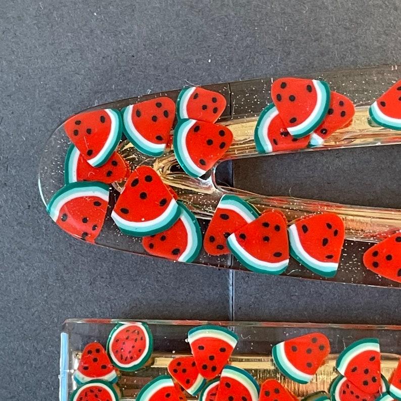 Resin Hair Accessories Resin Hair Clip Watermelon Barrette Resin Hair Slide Watermelon Hair Clip Girls Hair Clips Resin Barrette