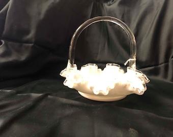 Authentique Fenton Silver Crest panier 8»