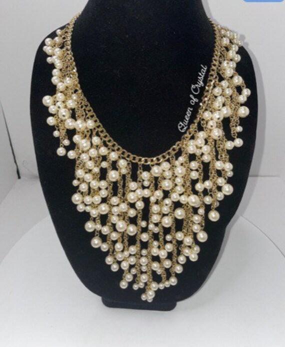 Vintage Designer Arnold Scaasi Multi Pearl Gradua… - image 2