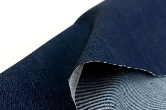 *NEW*Top Quality Soft Grey Chambray Stretch Denim Suiting//Dress//Crafts *FREE P/&P