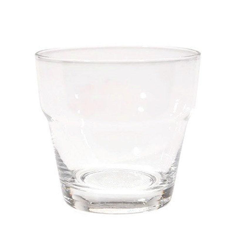 225 & Mini Glass Flower Pots - Clear Glass - Set of 6 ~ Votive Size Craft Succulent Candle Holder Wedding
