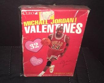 22bf127396ee16 Michael Jordan Valentines day cards by Cleo Set of 32 Sealed Vintage Cards