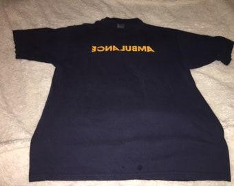 Ambulance spelled backwards T-shirt