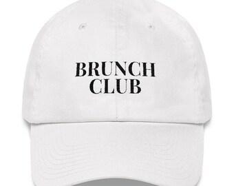 fd56b29849f274 Brunch Club Dad Hat, Embroidered Hat, Sunday Brunch, Sunday Funday, Brunch  Baseball Hat
