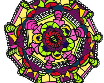 Geometric ~Coloring Page