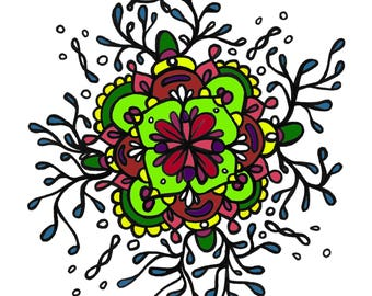 Flow ~Coloring Page