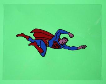 Superman Acrylic on Acetate by Dean Robinson
