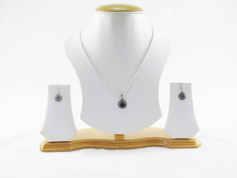 Silver Pendant and Earring Set Combo- 6