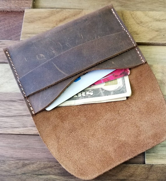 a3361769cb78 Leather Wallet Front Pocket Wallet Gift Ideas for Him Her