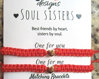 Soul Sisters Matching Bracelet Macrame