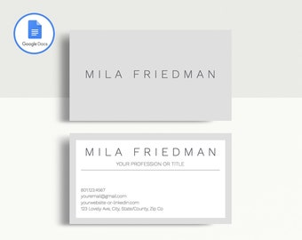 Business card template etsy professional business card template printable business card template matching google docs resume template modern business card design cheaphphosting Image collections