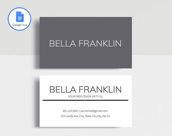 Modern business card etsy professional business card template printable business card template matching google docs resume template modern business card design cheaphphosting Image collections