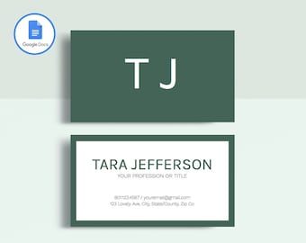 Business card template etsy professional business card template printable business card template matching google docs resume template modern business card design accmission Choice Image