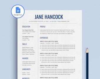 Google Docs Resume, Google Docs Resume Template Professional, Creative Google  Docs Resume Template,