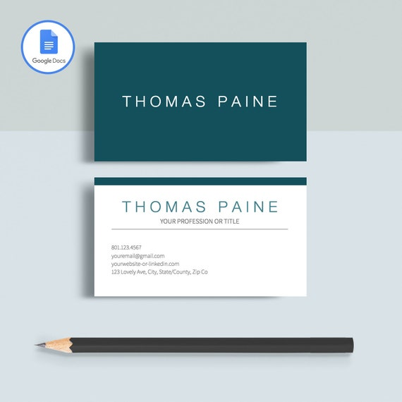 Printable Business Card Template from i.etsystatic.com