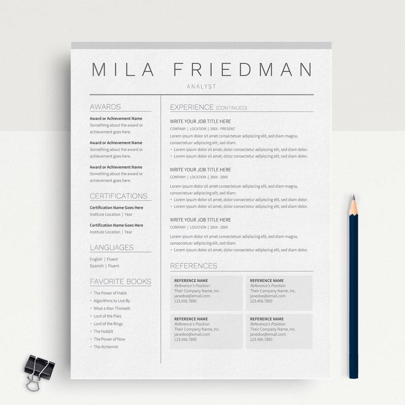 Google Docs Resume Template CV