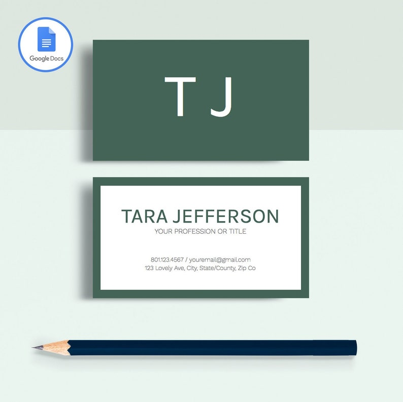 Professional Business Card Template Printable Business Card Etsy