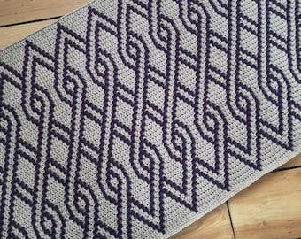 Diamond Knots - Overlay Mosaic Crochet PATTERN ONLY  - Digital Download