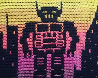 Beastie Boys - Intergalactic - Overlay Mosaic Crochet PATTERN ONLY  - Digital Download