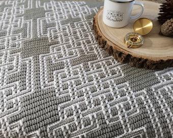 Jura Mosaic Celtic Knots - Overlay Mosaic Crochet PATTERN ONLY  - Digital Download