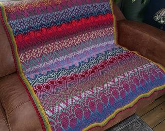 Strawberry Fields  - Overlay Mosaic Crochet PATTERN ONLY  - Digital Download