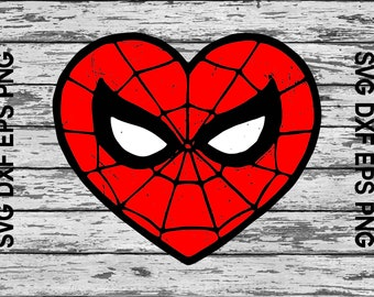581efc33b3e Love Spiderman Svg Womens Spiderman Eps Heart Spiderman Top Spiderman Png  For Women Kids Child Baby Girl Boy Toddler outfit