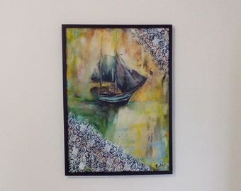 Dream, figurative picture, abstract, intuitive, minimalist, painting abstrcat, artistic work
