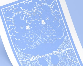 Lover's Parade - Blue Sky print - print A4/A3