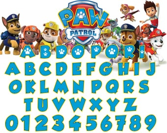 Marvelous Paw Patrol Font Svg,dxf/Paw Patrol Alphabet Svg,dxg/Paw Patrol Letter  Svg,dxf For Silhouette,Cricut,Design And Any More