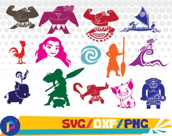 Moana svg,dxf,png/Moana clipart for Silhouette,Cricut,Design,Print and any more