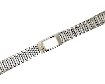 601aafdd437 Omega New 18MM Bead Of Rice Solid Stainless Steel Watch Gents Strap For  Omega