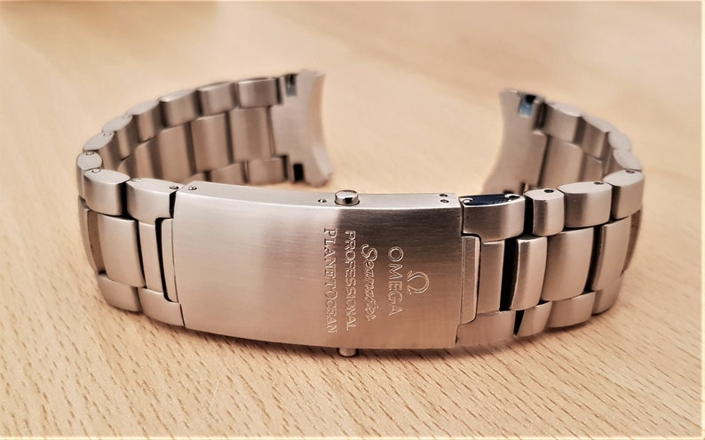 22mm Used Watch Strap Bracelet For Omega Seamaster Professional Planet Ocean 600m Replacement Os 03