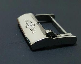 New Breitling 20mm Stainless Steel Gents Watch Strap Buckle.