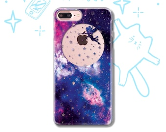 Fairy Space funny Moon iPhone X Case iPhone 7 8 6 5 5S SE Case Samsung S9 S8 S7 S6 Case iPhone 8 7 6 Plus Case Galaxy S9 S8 Plus Case Cute