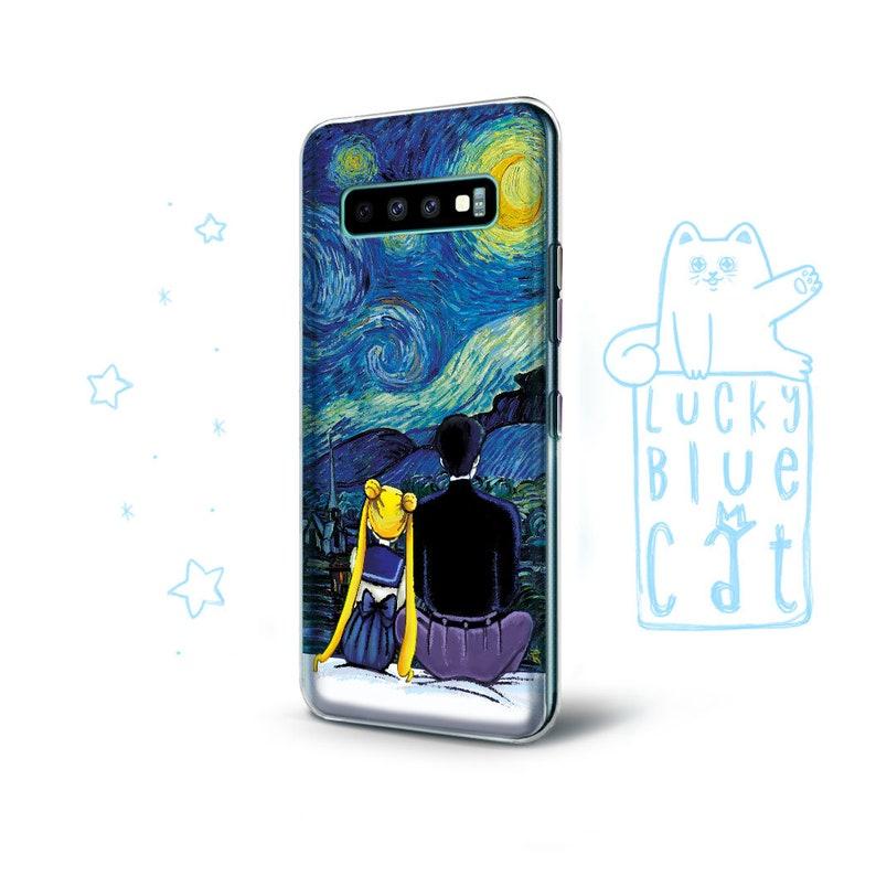 Sailor moon Samsung s21 case galaxy s21 ultra samsung case starry night case iphone 11 pro case van gogh case iphone xs case pixel 4 xl
