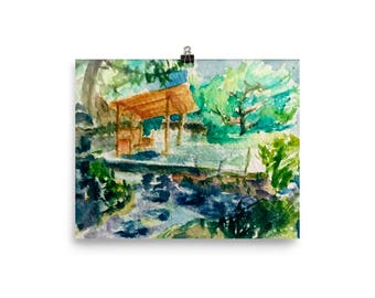 Italian Japanese garden Premium Luster Paper