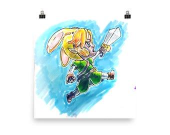 Bunny Link 1UP Premium Luster Paper