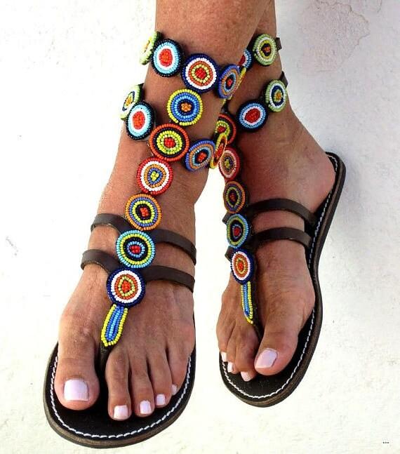 4c270dfe634 Handmade African Leather Shoes   Women Footwear   Greek Mystique ...