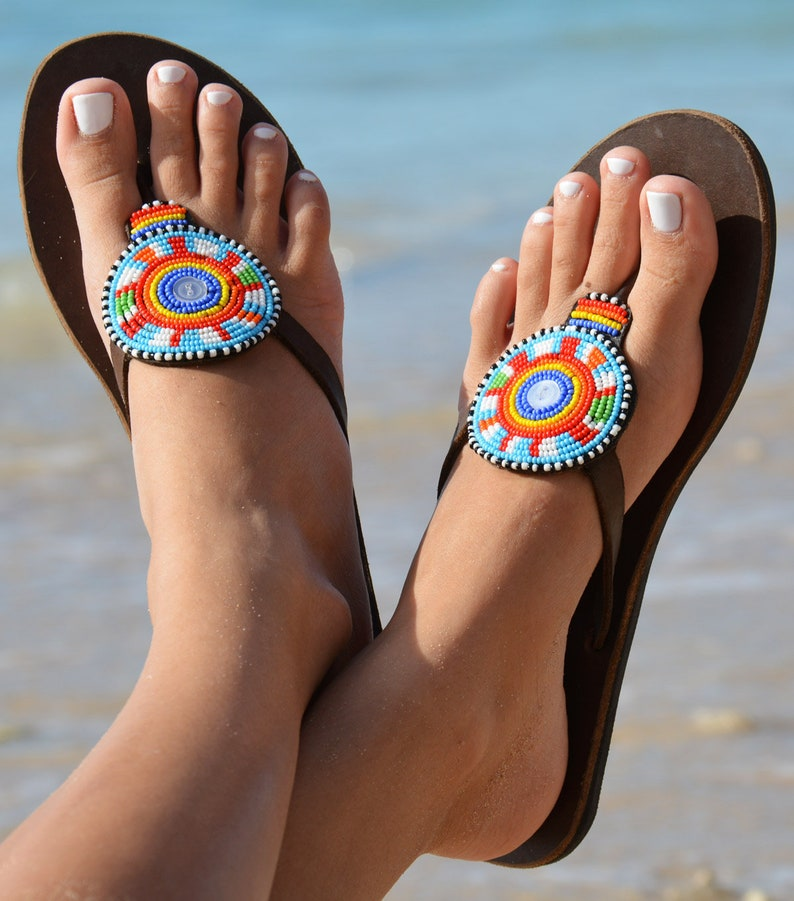 864f9a93a10a African shoes African flip flops Disc shoes Shoes Boho